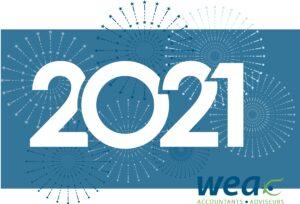Afbeelding 2021 met vuurwerk